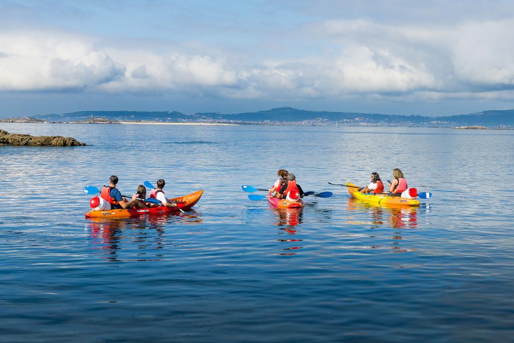 Kayak en Areoso