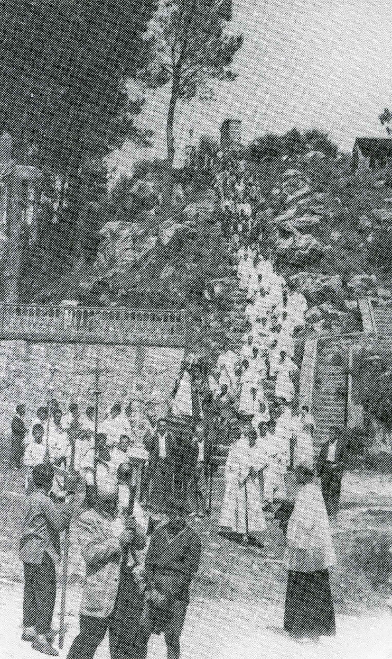 A centenary procession in Santa Trega