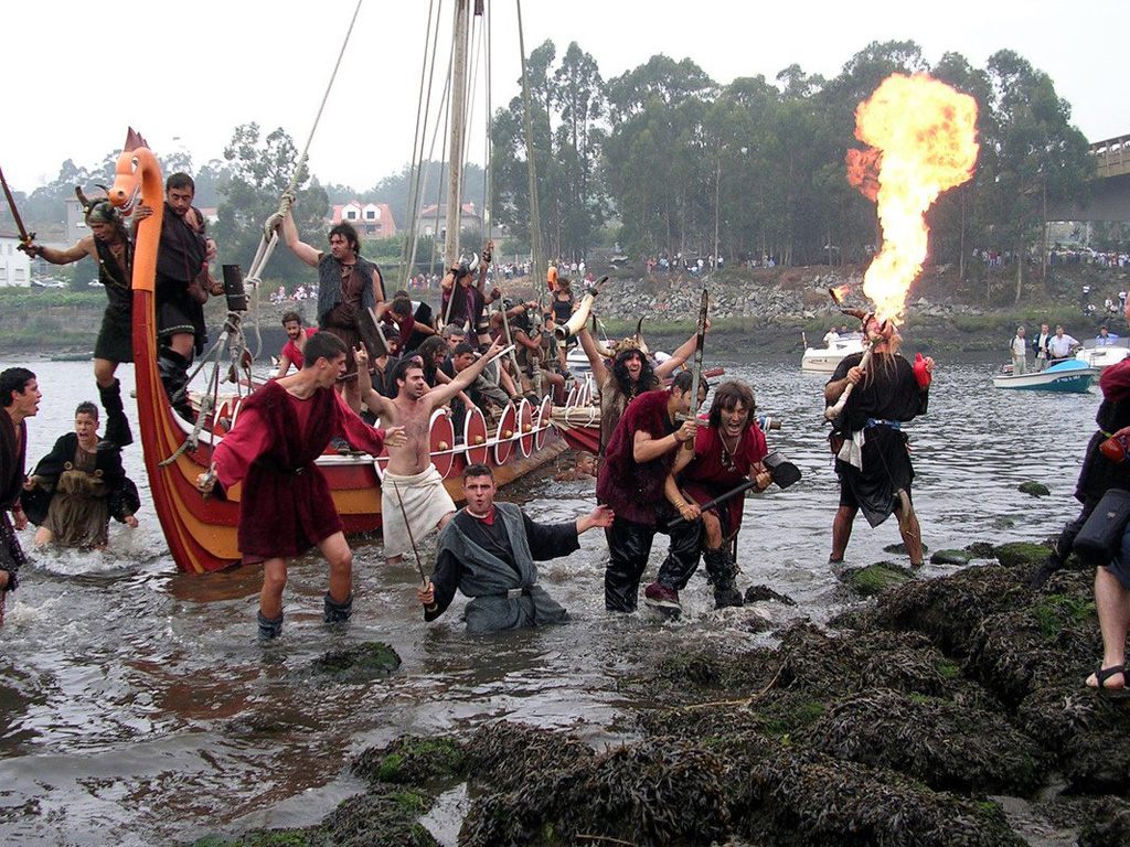 Catoira witnesses again the incursion of the Viking raiders