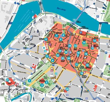 Mapa De Pontevedra Ciudad.Guias Y Mapas De Rias Baixas Turismo Rias Baixas