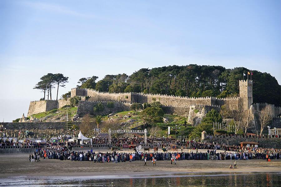 The fortress in Monte de Boi Baiona: