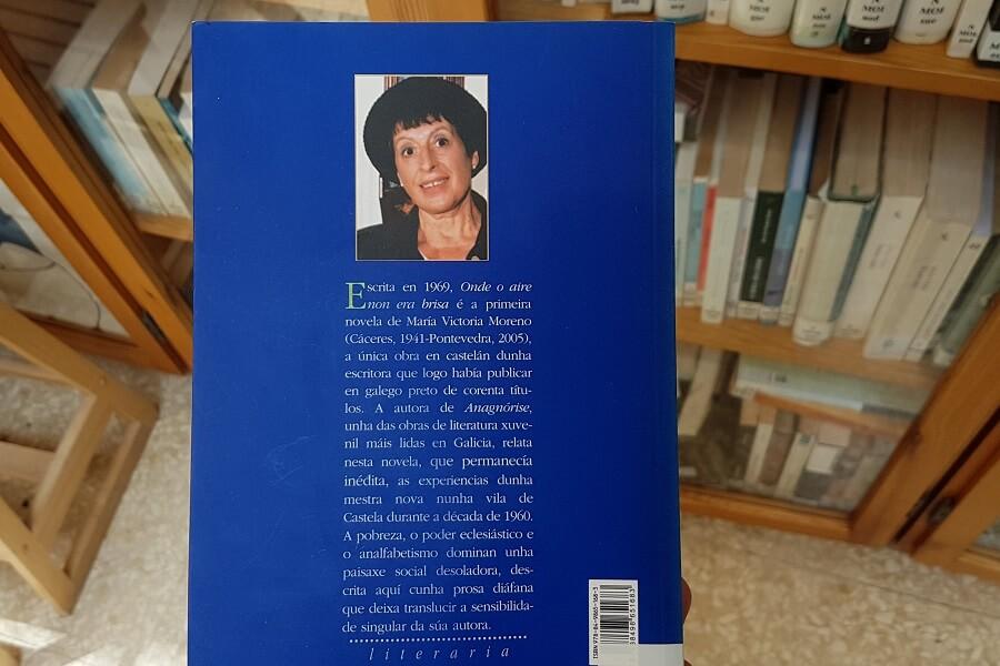 Libro de María Victoria Morena, escritora homenaxeada no Día das Letras Galegas 2018