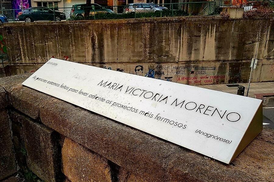 Placa conmemorativa a Maria Victoria Moreno en Pontevedra