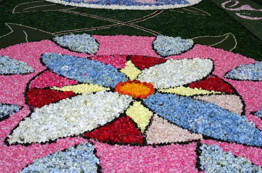 Alfombras florales en Ponteareas, Pontevedra