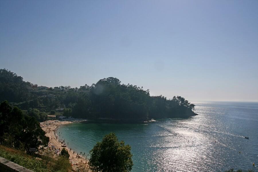 Playa de Mogor en Marín