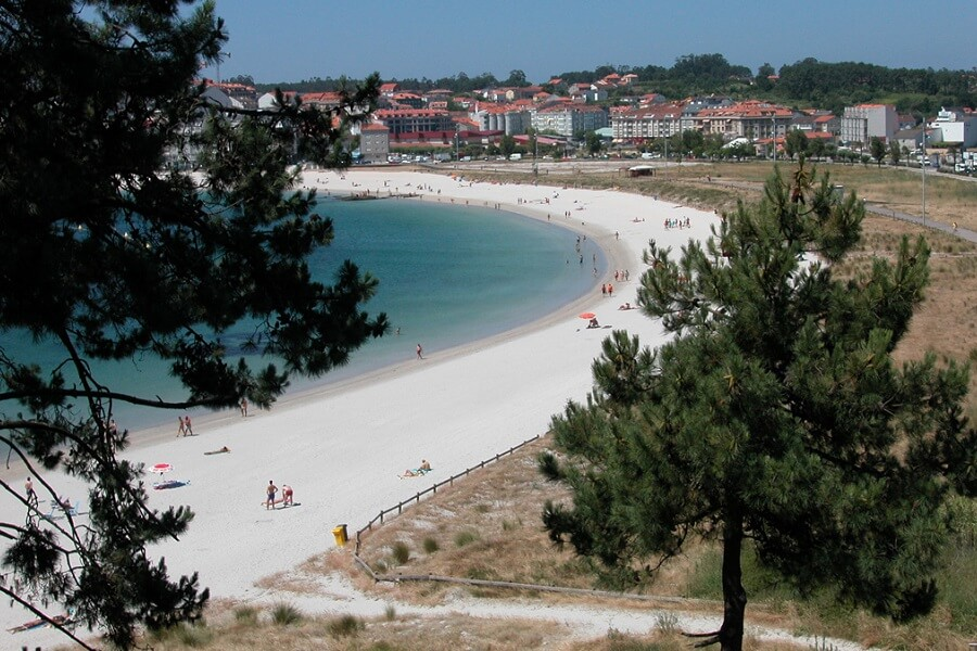 Playa de Baltar, Portonovo, Sanxenxo en Pontevedra