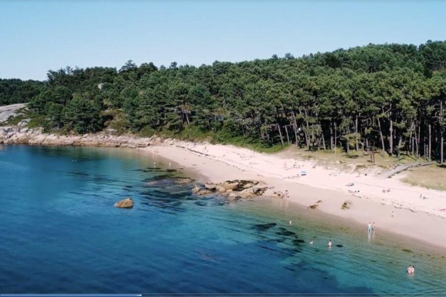 Playa en Isla de Arousa