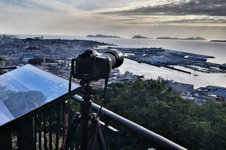 Observación de Perseidas, lluvia de estrellas desde O Castro, Vigo. Pontevedra
