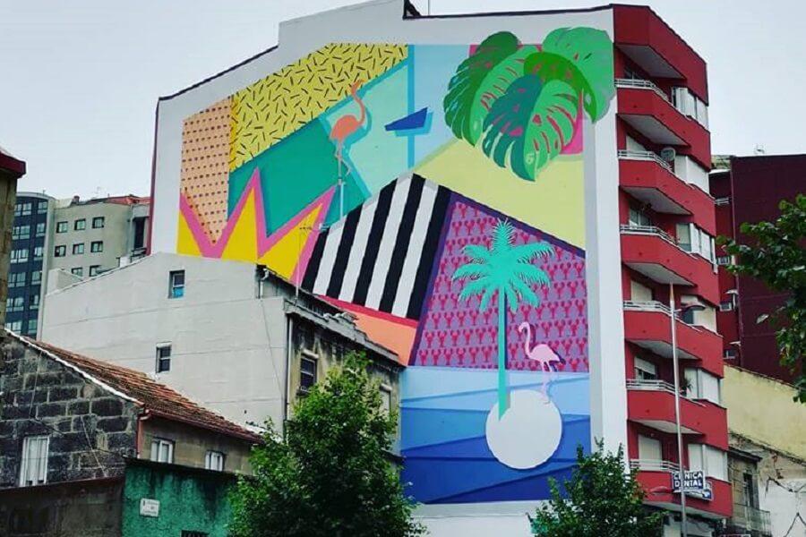 Mural en Vigo