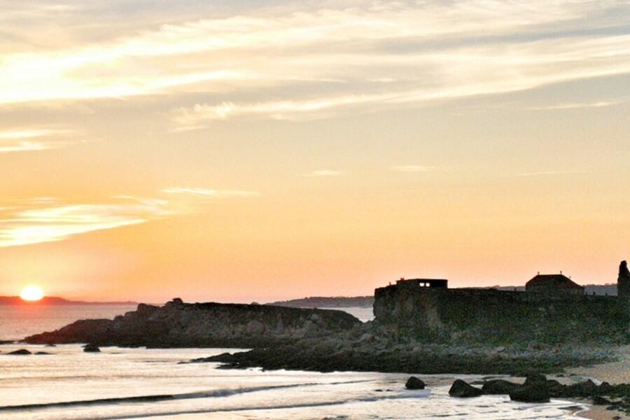 Puesta de sol en A Lanzada Pontevedra