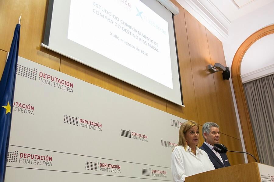 La Presidenta de la Deputación de Pontevedra presenta los datos de turismo de agosto 2018